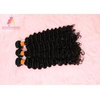 Quality 100% Unprocessed Virgin Human Hair Deep Wave Hair Extensions Tangle Free for sale