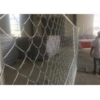 Quality Construction Portable 8 Ft Chain Link Fence Panels Low Carbon Steel Wire for sale
