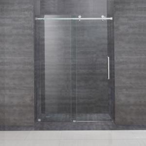 China Frameless Frame Style hinged glass door australian sliding shower door with tempered glass on sale