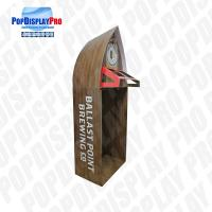 Quality Visual Merchandising Custom Cardboard Shelf Display PVC Clear Window For Beverage Drinks for sale