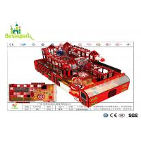 Kids Play Indoor Soft Playground Red / Black Color With Electric Basketball for sale