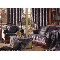 China Classic Brown Chenille Upholstery  Fabric / Chenille Damask Fabric on sale