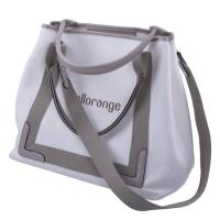 Quality Composite Foldable Travel Tote Bags For Women Hollow Out Pattern Canvas Lining for sale