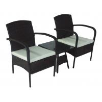 Quality 3pcs Patio Rattan Furniture Balcony wicker Table Chairs set for sale