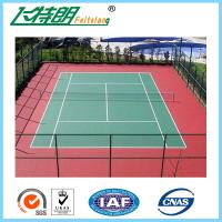 Pu sports court flooring synthetic tennis court for Indoor basketball court flooring cost