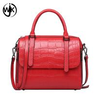 China newest guangzhou hand bag crocodile pattern bag leather woman with Two side pockets genuine leather handbags for women on sale
