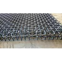 Quality Stone Crusher Vibrating Screen Wire Mesh , Hooked Crimped Mine Sieving Mesh for sale