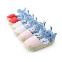 China Hot sale Cotton fabric Bowknot lace princess soft sole toddler girl baby sandals on sale