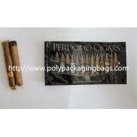 Quality Zipper Resealable Cigar Packaging Bag 7 Colors Printing With Humidification System for sale
