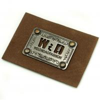 Quality Faux Personalized Leather Luggage Tags Metal Logo Multi Purpose For Hats for sale
