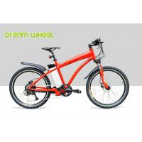 Red Pedal Assist High End Electric Mountain Bikes 48v 500w Gear Motor Cruiser Bicycle Of