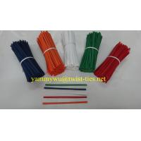 Quality HDPE/LDPE wired bag closure/twist ties for sale