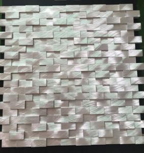 aluminium profile mosaic tiles