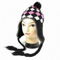 Quality 75G Acrylic Knitted Women Hat, Available in Many Designs for sale