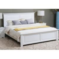 China Handmade Classic Style Solid Wood Bed Frame Full Size Strong Structure High Grade on sale