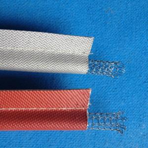 Quality Long Lifetime Silicone Coated Fiberglass Cloth , 8H Plain Weave for sale