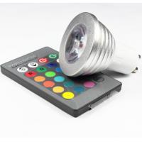 Buy cheap 3W RGB LED COB Spotlights bulbs RGB led remote controller