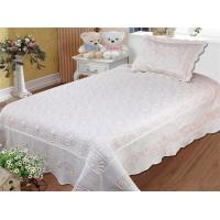 Quality Embroidered Queen Size Bed Quilts 240x260cm Bedcover Size For Hotel And Home for sale