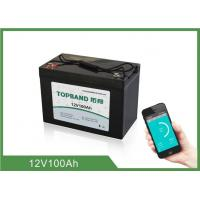 Quality LiFePO4 12V 100Ah Lithium RV Battery Pack Bluetooth Connection For Caravan for sale