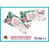 Personal Hygiene Wet Tissue Paper For Face , Unscented Feminine Wipes