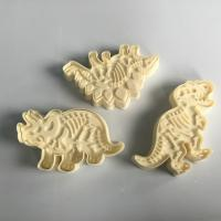 Quality 3 Pieces Set Skeleton Dinosaur Cookie Cutters , Stampers Cake Decoration Molds for sale
