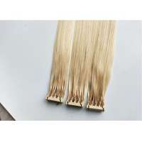 Quality 50g Brazilian human hair #613 color 12inch 6D hair extensions for sale