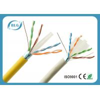 Quality High Speed Yellow Cat6 LAN Cable With F / UTP – Foiled Shielded 1000 FT for sale
