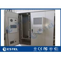 Quality Durable Outdoor Data Cabinet IP65 Three Bay Sandwich Structure Heat Insulation Material for sale
