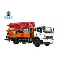 Quality 8 Mpa Pumping Pressure Mobile Concrete Mixer / Boom Pump Truck Mounted Machine for sale