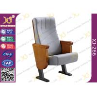 Quality Commercial Molded PU Foam Auditorium Chairs With Floor Mounted Fabric Cover for sale