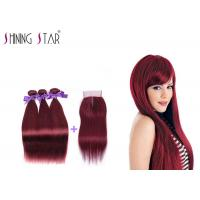 Buy cheap Wear Resistant 100 Human Hair Bundles With Closure Multi Colors Optional from wholesalers