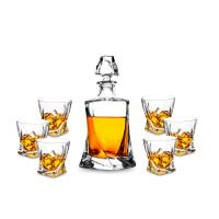 China Glass Whiskey Decanter Engraved Whiskey Decanter Set Custom Whiskey Decanter Set - BMGLASS on sale