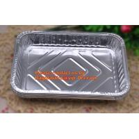 Quality extra-large disposable rectangle aluminium foil deli tray food foil container for takeaway food foil containers with lid for sale