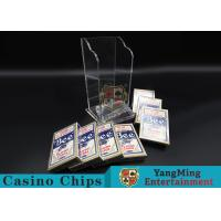 Quality Plastic Casino Game Accessories For Wide Cards , Playing Card Dealer Shoe  for sale