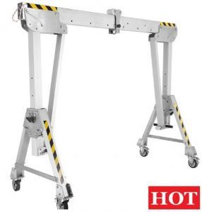 China Warehouse Use Mini Portable Aluminum Gantry Crane With Hand Chain Block on sale