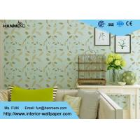 Buy cheap Green Leaf Pattern Modern Removable Wallpaper Moisture Proof from Wholesalers