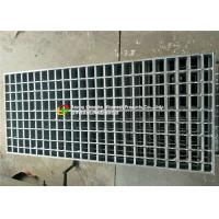 Swage Locked Heavy Duty Grating , Parking Lot Drainage Grates 6mm X 6mm Cross Bar