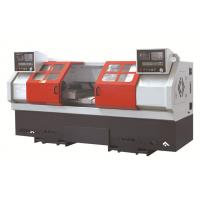 China Double spindle CNC lathe Machine , horizontal 2 head threading machine on sale