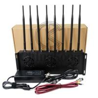 Mobile Office Cell Phone Signal Jammer , 3G 4G Cell Phone Signal Blocker Device 8 Antennas