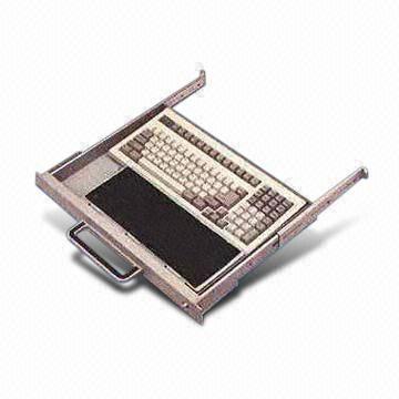 industrial standard 19 inch 1u rack mount keyboard drawer includes sliding rails for sale. Black Bedroom Furniture Sets. Home Design Ideas