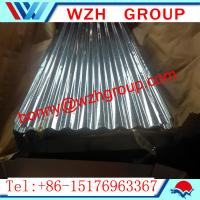 Quality 0.16 800 mm  galvanized corrugated steel sheet / metal roofing sheet for sale