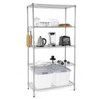 Quality H173 Simple Design Metal Display Shelf Carbon Steel Beautifully Silver - Finished for sale