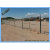 Buy cheap Galvanized Sturdy Temporary Mesh Fencing , Portable Chain Link Fence Steel Feet from wholesalers