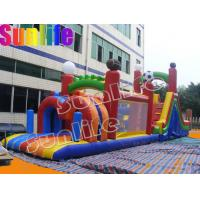 Quality inflatable exciting big pvc tarpaulin funny colorful obstacle course for sale