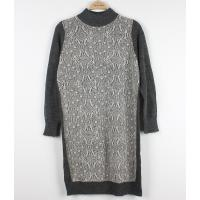 China Wool Long Ladies Sweater Dresses With Lace Front Classic Clothes on sale