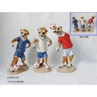 Quality Polyresin mongoos with football acting for sale