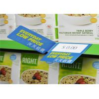 Quality UV Printing POP Plastic Shelf Talkers , Label Holders For Wire Shelving for sale