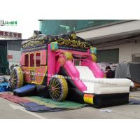 China Princess Carriage Inflatable Bouncy Castles With Lead Free PVC Tarpaulin Material on sale