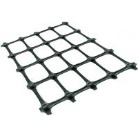 China Plastic PP Biaxial Geogrid Reinforcing Fabric Black Color For Soil Reinforcement on sale