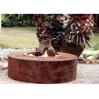 Buy Eco Friendly Attractive Garden Heating Corten Steel Fire Pit Round Shape  at wholesale prices